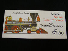 Scott #2843-47 American Steam Locomotives 29c (Booklet Strip of 5) 1994 Mint NH