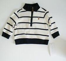 Polo Ralph Lauren Baby Boys Cotton Interlock Stripe Pullover Cream Multi Sz 3M