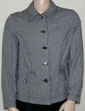 NEW Charter Club PLUS 0X Button Front Long Sleeve Jacket BLUE COMBO