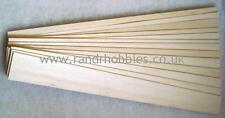 "BALSA WOOD SHEET 3"" WIDE 3ft (915mm) long a selection of 17 sheets"