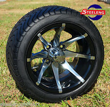 "Golf Cart 12"" Kraken Aluminum Wheels and 215/40-12 Dot Low Profile Tires (4)"