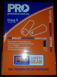Ear Plugs   200 Pairs   Snoring Stop   Pro Choice   Disposable ProBullet   EPOU