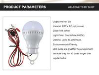 E27 LED Light Bulb 6000K Lamp Home Camping Emergency Outdoor Light DC12V