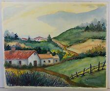 """North County"" 1970s Watercolor San Diego - Piedad Pettigrew - UNSIGNED - 15x18"