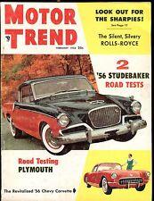 Motor Trend Magazine February 1956 Studebaker VG No ML 030117nonjhe