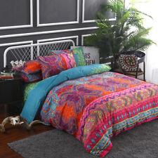 Ethnic Pink Duvet Cover Set for Comforter King Size Bedding Set Pillow Shams US