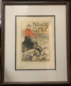 """Motorcycles Comiot Steinlen Vintage french poster Maitre de l'affiche """"ORIGINAL"""""""