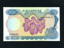 Singapore:P-5c,50$ 1972 * ORCHID * RARE * AU+ - UNC *