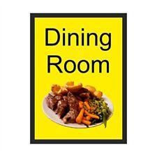 Dining Room Dementia Sign  200mm x 300mm Self Adhesive Vinyl (DMS-07-SA)