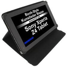Sac pour Sony Xperia Z4 Tablette STYLE LIVRE ÉTUI DE PROTECTION Support Noir