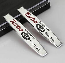 2pc 3D Metall Auto Schriftzug Aufkleber Emblem für Schutzblech chrome Turbo NEU