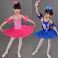 3 Color Swan Lake Pancake Ballroom Ballet Tutu Dancewear Girls Dancing Costumes