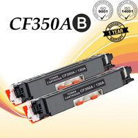 2PK 130A CF350A Black Toner Cartridge For HP Color LaserJet MFP M176n MFP M177fw