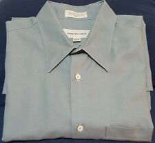 Pronto Uomo Grey Cotton Dress Shirt Button Front Mens Size 43-17 34/35 Italy