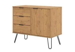 Augusta small sideboard with 1 doors, 3 drawers