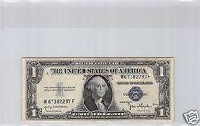 USA SILVER CERTIFICATE $1 DOLLAR 1935 D W-F N° 67382297 PICK 416D1