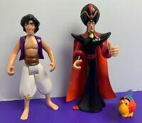 Lot of Disney Aladdin Mattel 1992 Action Figures Aladdin Jafar Iago Pre-Owned