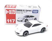 Tomica DieCast Modellauto 1:64 Nr 117 Porsche 911 Carrera weiß 2012 Takara Tomy