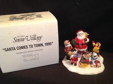 "Dept 56 Snow Village ""Santa comes to town, 1995"" Mib #5477-1"
