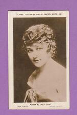 EVERY  GIRL'S  PAPER  -  RARE  FILM  STAR  CARD  -  ANNA  O.  NILLSON  -  1924