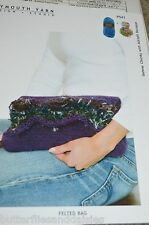 Plymouth Knitting Pattern P541 Felted Bag Purse Knitted