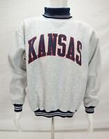 Vintage Kansas Jayhawks Turtleneck Sweatshirt Pullover Men's L