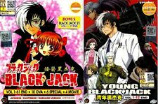 DVD Anime Black Jack Complete 1-61End +10OVA+6 Special +4Movie+ BJ 21 + Young BJ