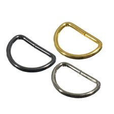 20 Pack Metal Non-Welded D-Rings for Belts, Bags, Lanyards & Leather Crafts