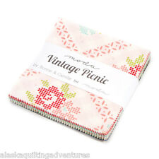 """Moda FABRIC Charm Pack ~ VINTAGE PICNIC ~ by Bonnie & Camille 42 - 5"""" sqs"""