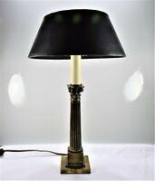 Leviton / C Ray Randall Vintage Brass Corinthian Greek Column Design Table Lamp