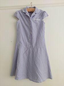 BHS Girls Age 11 Lilac Gingham School Dress