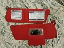 1987 1988 1989 1990 Ford F150 f250 f350 Bronco sun visors red oem 4x4