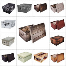 XXL Dekokarton Geschenkkarton Karton Box Stapelbox Lagerbox Kiste 40 Liter TOP