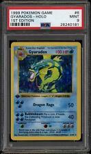 Pokemon Base Set 1st edición Shadowless Gyarados 6/102 - autenticador deportivos profesionales 9