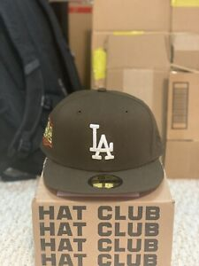 Hat Club Exclusive Los Angeles Dodgers 2020 World Series Patch Brown Red 7 3/8