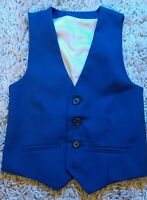 Boy's Stylish WAISTCOAT made by River Island in Blue - size 6 years