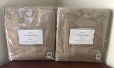 Pottery Barn Silk Dupioni Drape~50x96~Parchment (Set of 2)