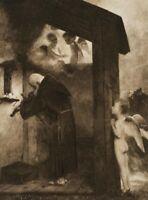 Der Einsiedler, nach A. BÖCKLIN (*1827), 19. Jhd., Fotogravur