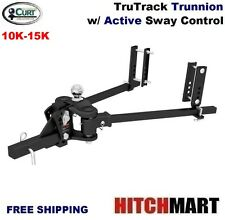 CURT 10-15K TRUTRACK TRUNNION WEIGHT DISTRIBUTION HITCH w INTEGRATED SWAY #17501