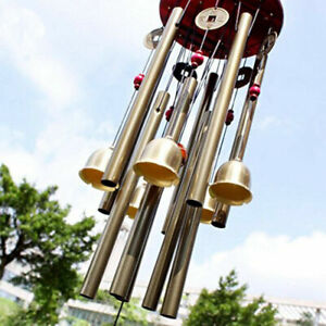 in stock - Large Wind Chimes 10 Tube 5 Bells Metal Church Bell Outdoor Garden