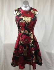 NAEEM KHAN Floral Silk Fit & Flare dress sz 6