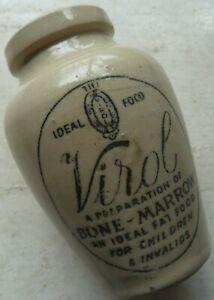Medium size VIROL bone marrow infants food pot crock C 1910
