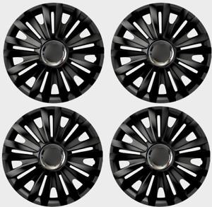 FULL SET OF 4 x 16'' INCH Wheel trims Hub caps for Vauxhall 16 BLACK RYL