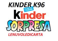SORPRESINA SORPRESA KINDER  FERRERO da K96  N.1  a K096 N.130 A SCELTA