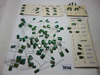 VINTAGE ELECTRONIC CAPACITOR CONDENSER BIG MIXED LOT CALRAD MADE IN JAPAN GREEN