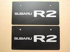 JDM SUBARU R2 Original Dealer Showroom Display License Plates Pair Dealership