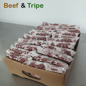 Frozen Dog Food BEEF & TRIPE 22 x 454g bags 10 kg Box BARF RAW DIET Delivered