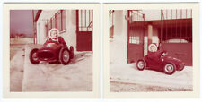 photo 2 Snapshot couleur voiture à pédale vers 1950 ferrari auto jouet