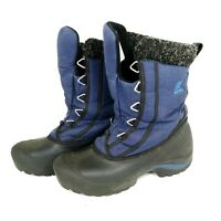 Sorel NL1436-574 Women's Blue Black Lace Up Outdoor Winter Snow Boots size 7.5