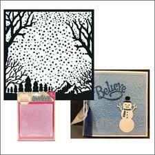 Snowfall embossing folders - Traditional Christmas embossing folder Yvonne